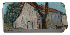 Portable Battery Charger featuring the painting Bernal Gulnac Joice Ranch California Landscape 7 by Xueling Zou