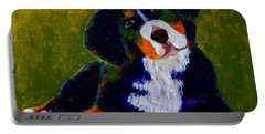 Bernese Mtn Dog Puppy Portable Battery Charger by Donald J Ryker III