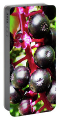 Wild Purple Pokeweed Berries  Portable Battery Charger