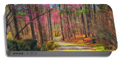Portable Battery Charger featuring the photograph Berry's Back Road by Geraldine DeBoer
