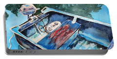 Portable Battery Charger featuring the painting Best Fishing Buddy by Marilyn Jacobson
