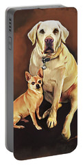Best Friends By Spano Portable Battery Charger by Michael Spano