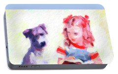 Portable Battery Charger featuring the photograph Best Friends by Chris Armytage