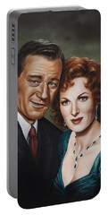 Portable Battery Charger featuring the painting Best Guy I Ever Met by Kim Lockman