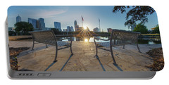 Best Seat In Austin, Texas 4 Portable Battery Charger by Rob Greebon