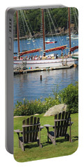 Best Seats In Bar Harbor Maine Portable Battery Charger by Living Color Photography Lorraine Lynch