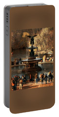 Portable Battery Charger featuring the photograph Bethesda Fountain In Autumn - Central Park New York by Miriam Danar