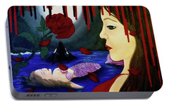 Portable Battery Charger featuring the painting Betrayal by Teresa Wing