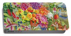 Betsy's Dahlias II Portable Battery Charger
