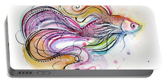 Betta Fish Watercolor Portable Battery Charger