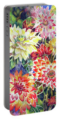 bety's Dahlias Portable Battery Charger