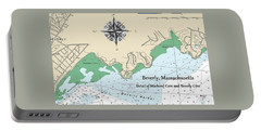 Beverly Cove Nautical Map Portable Battery Charger