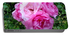 Portable Battery Charger featuring the photograph Bevy Of Roses by Sadie Reneau