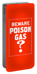 Beware Poison Gas - Wwi Sign Portable Battery Charger