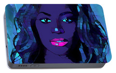 Beyonce Graphic Abstract Portable Battery Charger by Dan Sproul