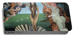 Beyonce - The Birth Of Venus Portable Battery Charger by Angelo Thomas