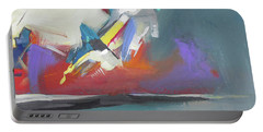 Portable Battery Charger featuring the painting Beyond Reflection by John Jr Gholson