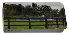 1004 - Beyond The Fence White Horse Portable Battery Charger