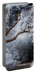Portable Battery Charger featuring the photograph Beyond The Silver Tunnel by Helga Novelli