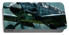 Bf-109 Intercept In Oil Triptych No 2 Portable Battery Charger