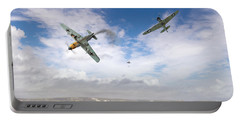 Portable Battery Charger featuring the photograph Bf109 Down In The Channel by Gary Eason