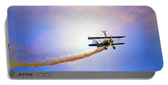 Bi-plane And Wing Walker Portable Battery Charger by Tom Jelen