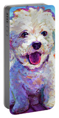 Bichon Frise Portable Battery Charger by Robert Phelps