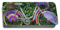 Bicycle In Knitted Sweater Portable Battery Charger