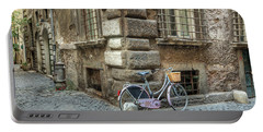 Bicycle In Rome Portable Battery Charger