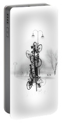 Bicycle Lamppost In Winter Portable Battery Charger