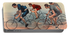 Portable Battery Charger featuring the photograph Bicycle Lithos Ad 1896nt by Padre Art