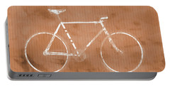 Bicycle On Tile Portable Battery Charger by Dan Sproul