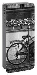 Bicycle With Flowers Portable Battery Charger