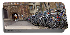 Bicycles At Trinity College Cambridge Portable Battery Charger by Gill Billington