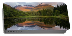 Bidean Nam Bian At Sunset Portable Battery Charger