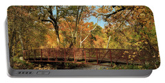 Portable Battery Charger featuring the photograph Bidwell Park Bridge In Chico by James Eddy