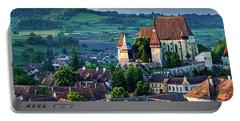 Biertan Church Dawn - Romania Portable Battery Charger