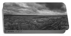 Big Badlands Overlook Panorama 2 Bw Portable Battery Charger