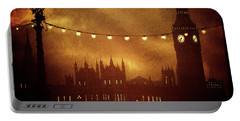 Portable Battery Charger featuring the digital art Big Ben At Night by Fine Art By Andrew David
