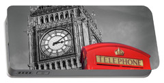 Big Ben Portable Battery Charger by Delphimages Photo Creations