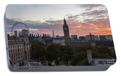 Big Ben London Sunrise Portable Battery Charger by Mike Reid