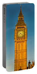 Big Ben Tower Golden Hour London Portable Battery Charger