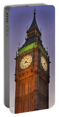 Portable Battery Charger featuring the photograph Big Ben Twilight In London by Terri Waters