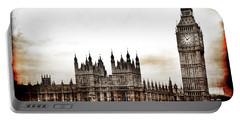 Big Bend And The Palace Of Westminster Portable Battery Charger