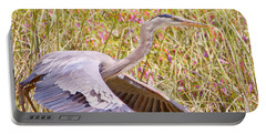 Big Bird In Flying Color Portable Battery Charger by Judy Kay