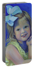 Big Bow Little Girl Portable Battery Charger by Jeanette Jarmon