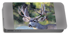 Portable Battery Charger featuring the photograph Big Buck by Shane Bechler