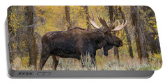 Portable Battery Charger featuring the photograph Big Bull Washakie by Yeates Photography