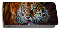 Portable Battery Charger featuring the digital art Big Cat by Aaron Berg