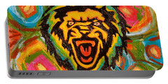 Big Cat Abstract Portable Battery Charger by Gerhardt Isringhaus